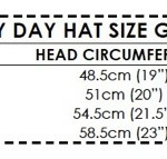 Lazy Day Hat size guide