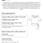 The Honey Blouse requirements