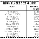 High Flyers size guide