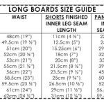 Long Boards size guide