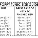 Poppy Tunic size guide