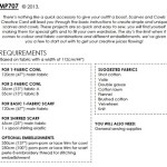 Scarves and Cowls requirements