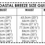 Coastal Breeze size guide