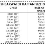 Mini Shearwater Kaftan size guide