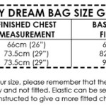 Baby Dream Bag size guide
