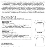 Waterfall Blouse requirements