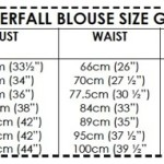 Waterfall Blouse size guide