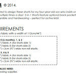 2-in-1 Shorts requirements