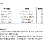 30 Minute Skirt size & requirements