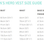Women's Hero Vest size guide